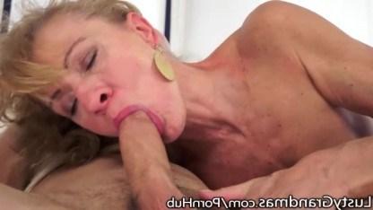 Внук помогает бабушке утолить ее многолетнюю жажду секса при помощи инцеста